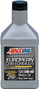 AMSOIL EUROPEAN CAR FORMULA (EFM) 5W40 1QT 946ML