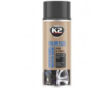 K2 COLOR FLEX GUMA W SPRAYU 400ML CZARNY MAT