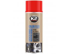K2 COLOR FLEX GUMA W SPRAYU 400ML CZERWONY