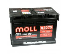 MOLL M3PLUS K2 DOUBLE AKUMULATOR 75AH 680A P+ MM83075