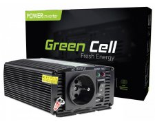 GREEN CELL PRZETWORNICA 12V DO 230V 600W