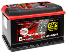 ZAP AGM EXPEDITION PLUS 70Ah 640A 570 01